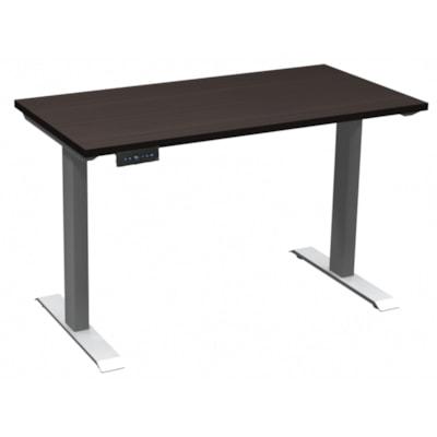 "HDL Athena Sit-to-Stand Desk, Evening Zen, 48"" x 24"" x 27 1/2""-45 1/2"" EVENING ZEN/SILVER 2 LEG BASE 48'' W X 24''D X 27.5-45.5''H"