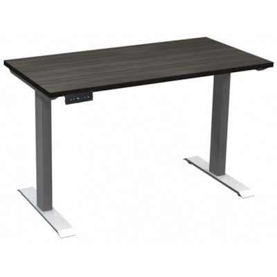 """HDL Athena Sit-to-Stand Desk, Grey Dusk, 48"""" x 24"""" x 27 1/2""""-45 1/2"""" GREY DUSK TOP/ SILVER BASE 24"""" DEEP X 48"""" WIDE"""