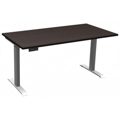 "HDL Athena Sit-to-Stand Desk, Evening Zen, 60"" x 30"" x 27 1/2""-45 1/2"" EVENING ZEN/SILVER 2 LEG BASE 60'' W X 30''D X 27.5-45.5''H"