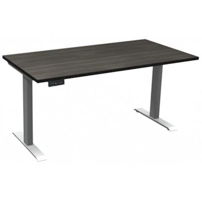 "HDL Athena Sit-to-Stand Desk, Grey Dusk, 60"" x 30"" x 27 1/2""-45 1/2"" GREY DUSK/ SILVER 2 LEG BASE 60'' W X 30''D X 27.5-45.5''H"