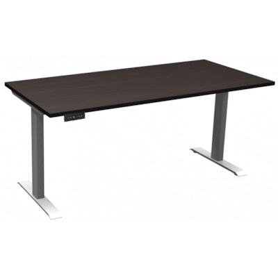 "HDL Athena Sit-to-Stand Desk, Evening Zen, 66"" x 30"" x 27 1/2""-45 1/2"" EVENING ZEN/SILVER 2 LEG BASE 66'' W X 30''D X 27.5-45.5''H"