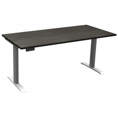 "HDL Athena Sit-to-Stand Desk, Grey Dusk, 66"" x 30"" x 27 1/2""-45 1/2"" GREY DUSK/SILVER 2 LEG BASE 66'' W X 30''D X 27.5-45.5''H"