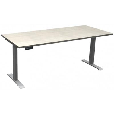 "HDL Athena Sit-to-Stand Desk, Winter Wood, 72"" x 30"" x 27 1/2""-45 1/2"" WINTER WOOD/SILVER 2 LEG BASE 72'' W X 30''D X 27.5-45.5''H"