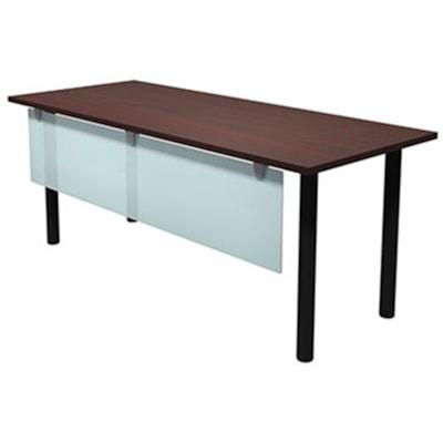 """HDL Innovations Table Desk with 2"""" Silver Offset Legs, Evening Zen, 48"""" x 24"""" x 29"""" EVENING ZEN TOP/ SILVER LEGS 24"""" DEEP X 48"""" WIDE"""