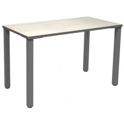 """HDL Innovations Table Desk with 2"""" Silver Offset Legs, Winter Wood, 48"""" x 24"""" x 29"""" WINTER WOOD TOP/ SILVER LEGS 24"""" DEEP X 48"""" WIDE"""
