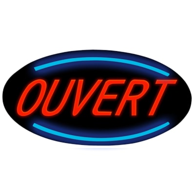 Royal Sovereign Oval Ouvert Sign, French