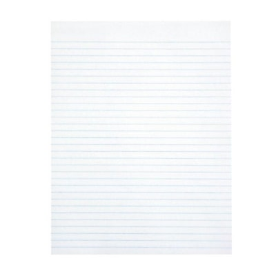 """Grand & Toy Economy Letter-Size Pads, White with Wide Rule, 8 1/2"""" x 11"""", Pack of 5 BOTH SIDES 96 SHEETS ECONOMY"""