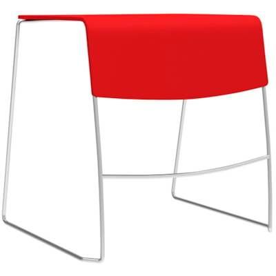 Table empilable à usages multiples Duet Global, écarlate STACKING TABLE POLYPROPYLENE  SCARLET