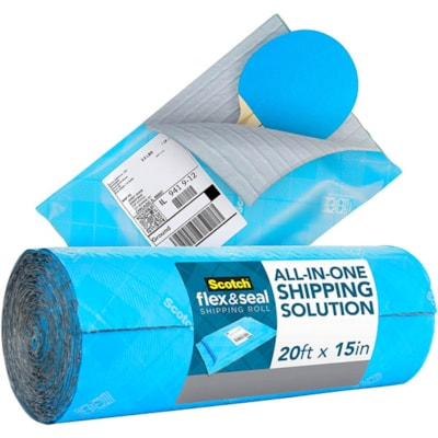 """Scotch Flex and Seal Shipping Roll, Blue, 15"""" x 20' 15 IN X 20 FT (381MMX6.09M)"""