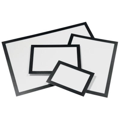 Durable Duraframe Sign Holder, Black, Letter Size, 2/PK AUTOCOLLANTS  LETTRE  NOIR PAQUET DE 2
