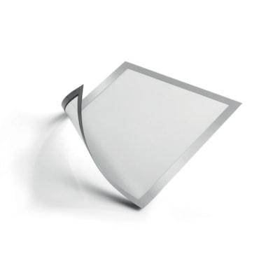 Durable Duraframe Sign Holder, Silver, Half Letter Size, 2/PK MAGNÉTIQUES DEMI-LETTRE ARGENT PAQUET DE 2
