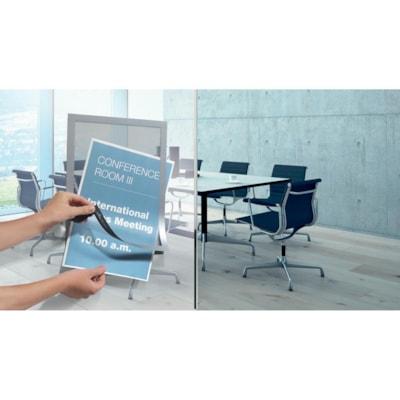 Durable Duraframe Sign Holder, Silver, Letter Size, 2/PK AUTOCOLLANTS  LETTRE  ARGENT PAQUET DE 2