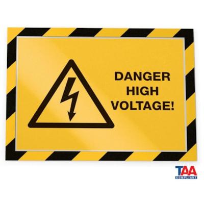 Durable Duraframe Security/Safety Sign Holder, Yellow/Black, Letter Size, 2/PK SÉCURITÉ  AUTOCOLLANTS  LETTRE JUANE/NOIR  PAQUET DE 2