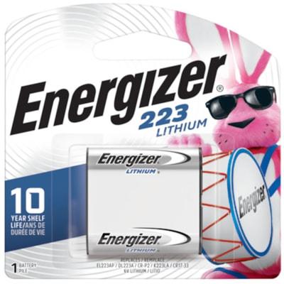 Energizer 223 Lithium Photo Battery, 1/PK (EL223APBP) 1/PK CUST SPECIFIC