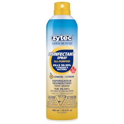 zytec Germ Buster Disinfectant Aerosol Spray with Bag-On-Valve, 400 mL BOV AEROSOL CITRIC ACID
