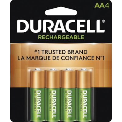 """Duracell Rechargeable """"AA"""" NiMH Batteries, 4/PK  4 PACK CUST SPECIFIC"""