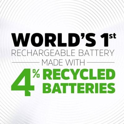 """Energizer Recharge Power Plus """"AA"""" NiMH Rechargeable Batteries, 4/PK (NH15BP4)  4 PACK NICKEL-METAL HYBRIDE"""