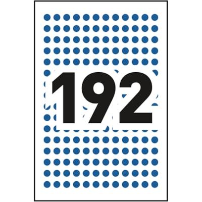 "Avery Non-Printable Removable Colour-Coding Labels, Blue, 1/4"" Diameter, 192 Labels/Sheet, 4 Sheets/PK 1/4"" ROUND BLUE"