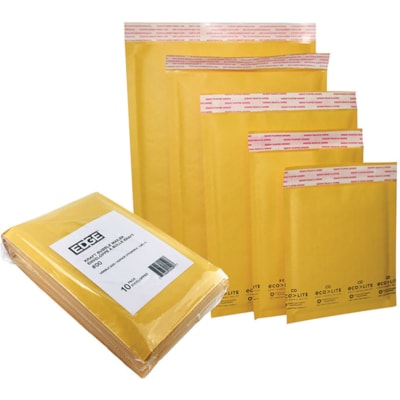"Edge Self-Adhesive Bubble Mailer, Kraft, #3, 8 1/4"" x 13 1/2"", 10/PK 8-1/4"" X 13-1/2"""