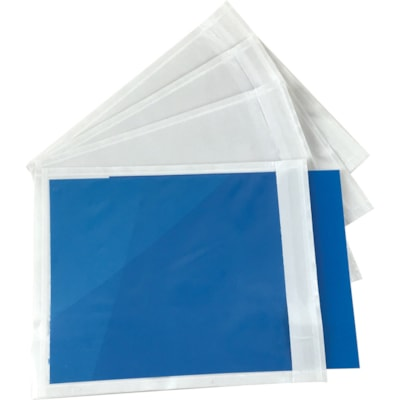 """Edge Packing List Envelopes, Clear, 4 1/2"""" x 5 1/2"""", 1,000/CT NO PRINT 1000/CT"""