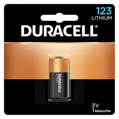 Duracell Lithium 123 Photo Battery COIN  3V 1/PACK CUST SPECIFIC