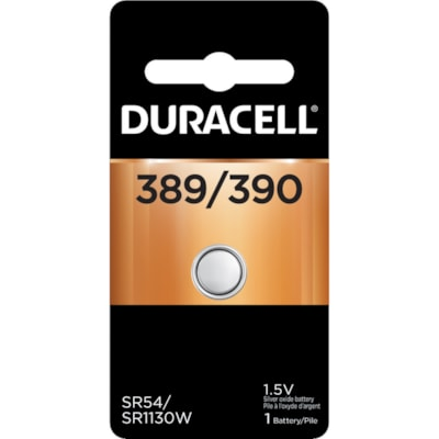 Duracell 389/390 Silver Oxide Watch Battery SIZE 396 1.5V 1/PACK CUST SPECIFIC