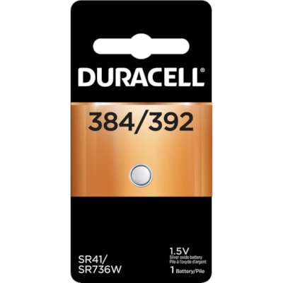 Duracell 384/392 Silver Oxide Watch Battery SIZE 384 1.5V 1/PACK CUST SPECIFIC