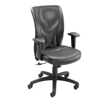 G&T 400 HB TILTER MESH FABRIC W/LEATHER TRIM SEAT DEPTH & HEIGHT ADJUS
