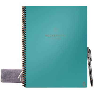 Carnet intelligent format lettre Fusion Rocketbook, sarcelle Neptune, 8 1/2 po x 11 po, 42 pages LETTER - NEPTUNE TEAL