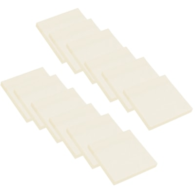 """Grand & Toy Recycled Self-Stick Notes, Yellow, 3"""" x 3"""", 12/PK RPL 97995  30% POST CONSUMER WASTE"""