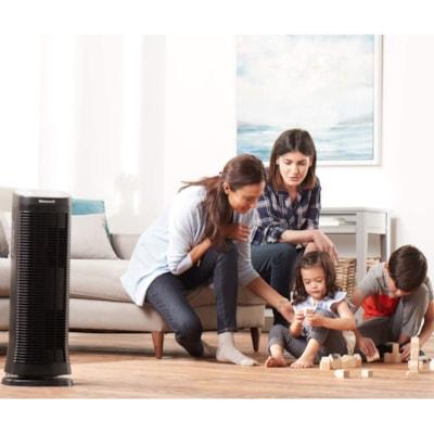 Honeywell HFD310C AirGenius 4 Air Purifier for Large Room, Black W/ PERM. FILTER BLACK 161 CADR 250 SQ FT  ENERGYSTAR
