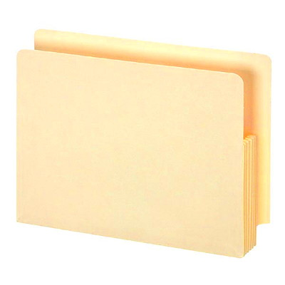 Pendaflex Manila Shelf File Pockets 5.25IN EXPANSION 100% RECYCLED RIP PROOF GUSSET