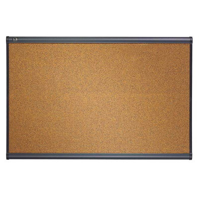 Quartet Prestige Coloured Cork Bulletin Board COLOURED GRAPHITE FINISH FRAME MOUNTING SYSTEM INCL.QUARTET