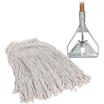 Genuine Joe Wood Handle Complete Wet Mop