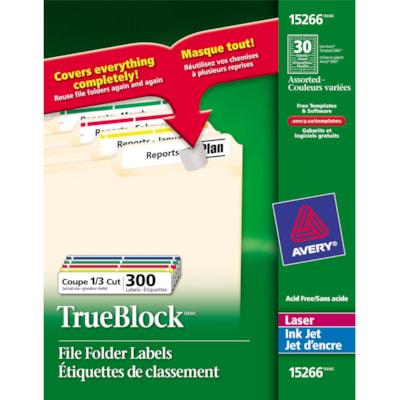 Avery® TrueBlock File Folder Label