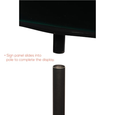 Deflecto Double-Sided Magnetic Sign Display