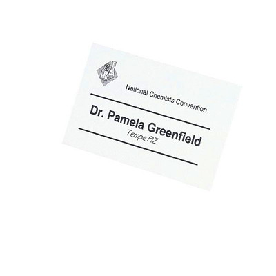 """Avery 5390 Name Badge Insert Refills, White, 2 1/4"""" x 3 1/2"""", 8 Badges/Sheet, 50 Sheets/BX 50 PERFORATED SHEETS 400 TAGS AVERY"""