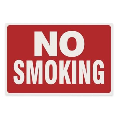 U.S. Stamp & Sign No Smoking Sign