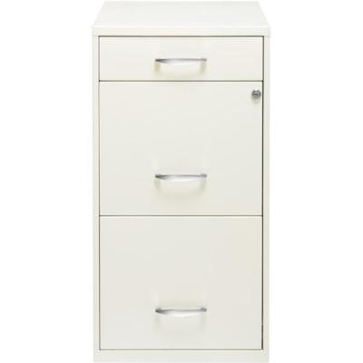 Lorell SOHO White 3-drawer File Cabinet