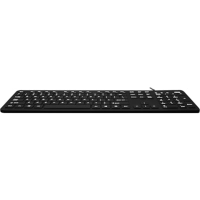 Adesso AKB-235UB - Antimicrobial Waterproof Desktop Keyboard CED SILICONE DESKTOP KEYBOARD - PROTECTS AGAINST W