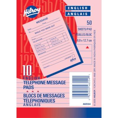 MeadWestvaco 46554 Telephone/Message Pad  *** MINIMUM ORDER QTY = 30 ***