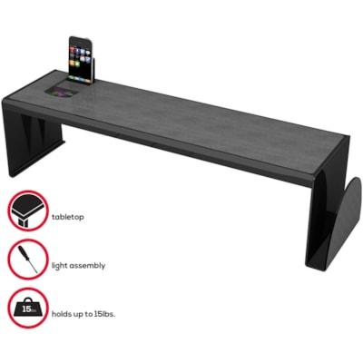 Deflecto Sustainable Office Heavy-Duty Desk Shelf