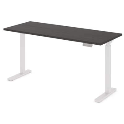 """Offices to Go Ionic Table Top for Electric Height-Adjustable Table Desk, Dark Espresso, 58"""" x 23"""" x 1"""" (Tabletop only) HEIGHT ADJUSTABLE TABLE"""