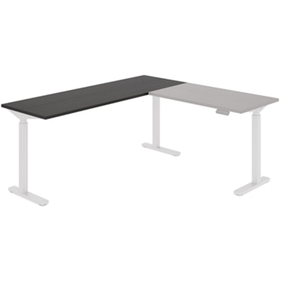 """Offices to Go Ionic Table Top for Electric Height-Adjustable Table Desk, Dark Espresso, 70"""" x 23"""" x 1"""" (Tabletop only) HEIGHT ADJUSTABLE TABLE"""