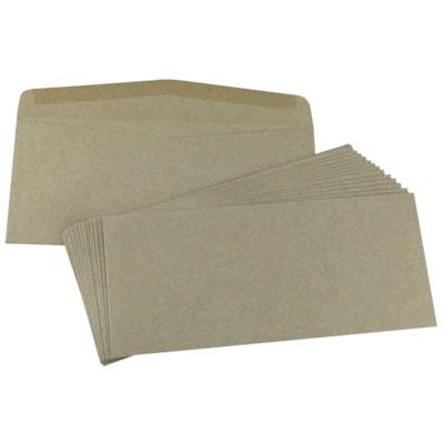 """SupremeX Heavy Mailing Envelopes, Open Side, #10, Natural Kraft, 4 1/8"""" x 9 1/2"""", 500/BX 24LB NATURAL KRAFT FSC"""