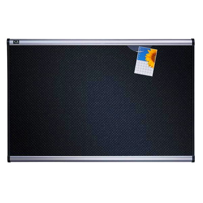 Quartet Prestige Black Embossed Foam Bulletin Board BOARD  EMBOSSED  HI DENSITY FOAM-EXCEPTIONAL PIN HOLDING