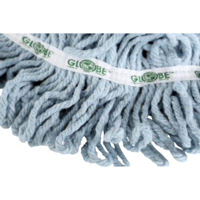 Globe Commercial Products Synthetic Looped End Wet Mop Head With Narrow Band, 12 oz SYNTHETIC BLENDED YARN TRUE WEIGHT MOP 12OZ