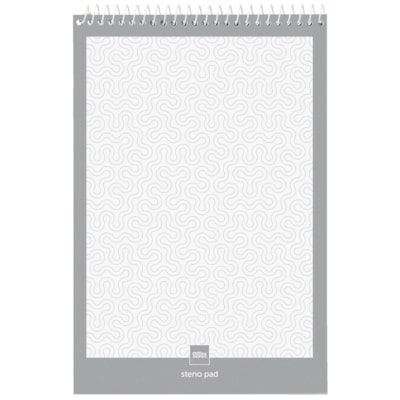 """Office Depot® Steno Books, White with Gregg Ruled, 6"""" x 9"""", Pad of 70 Sheets, Pack of 12 Pads"""