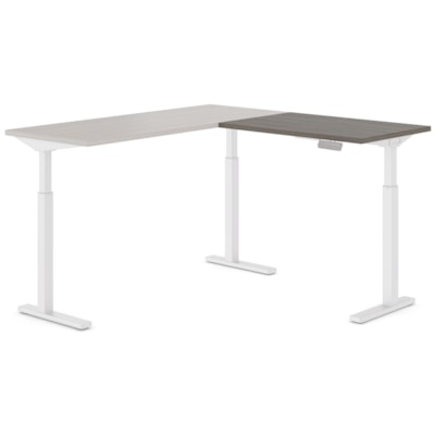 """Offices to Go Ionic Table Top Return for Electric Height-Adjustable Table Desk, Absolute Acajou, 35"""" x 23"""" x 1"""" ABSOLUTE ACAJOU FINISH 3 LEG HAT"""