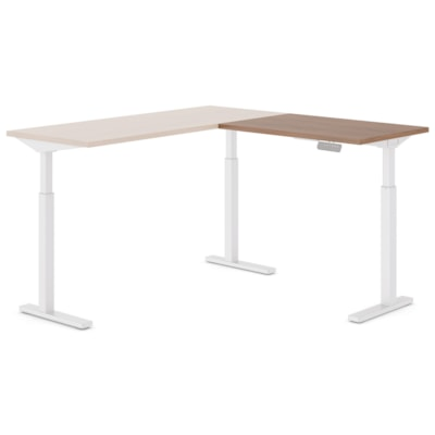 """Offices to Go Ionic Table Top Return for Electric Height-Adjustable Table Desk, Winter Cherry, 35"""" x 23"""" x 1"""" WINTER CHERRY FINISH 3 LEG HAT"""